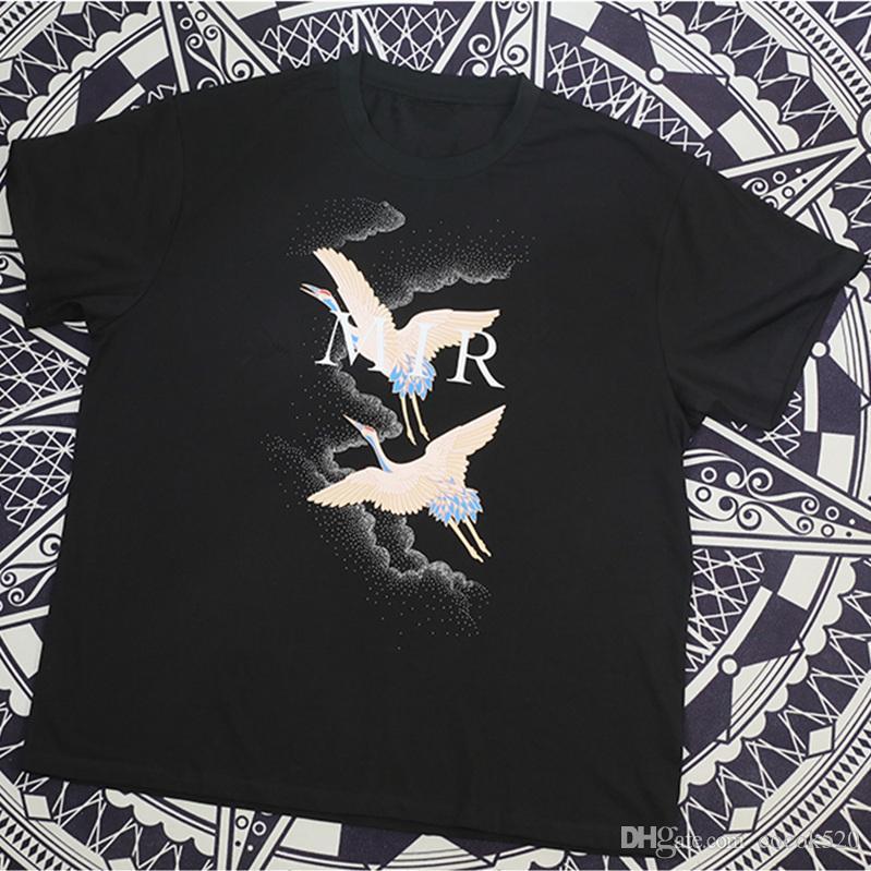 Животных Печать Летние футболки мужские Известные Sylist Футболка Streetwear Мода Мужчины Женщины с коротким рукавом Тис Размер S-XXL