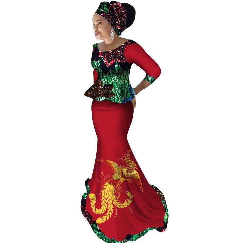 Новые африканские свободные Канга платья для женщин дашики традиционный хлопок топ юбка набор из 3 шт. одежда свадебные платья WY2372