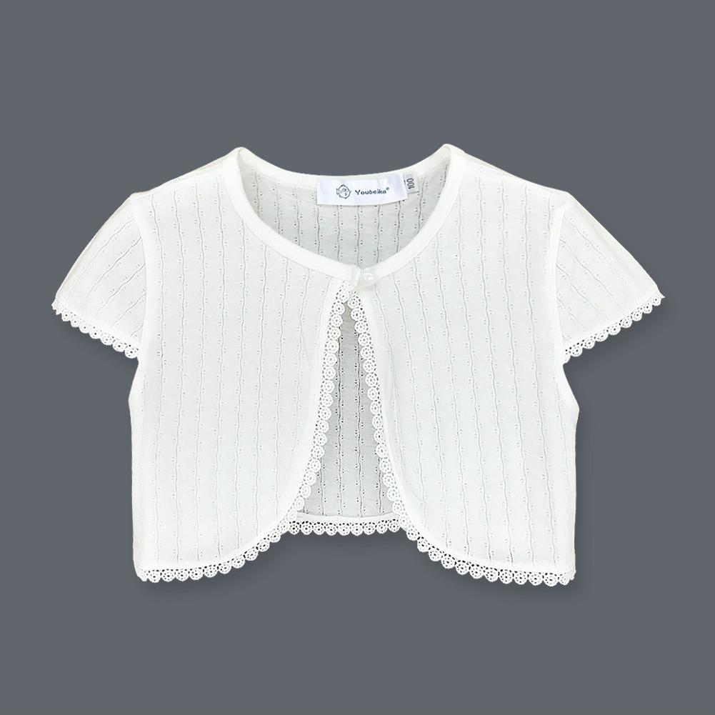 New Fashion Kids Bolero Children Short Sleeves Cotton Shrug Summer Girls Cardigan Jacket