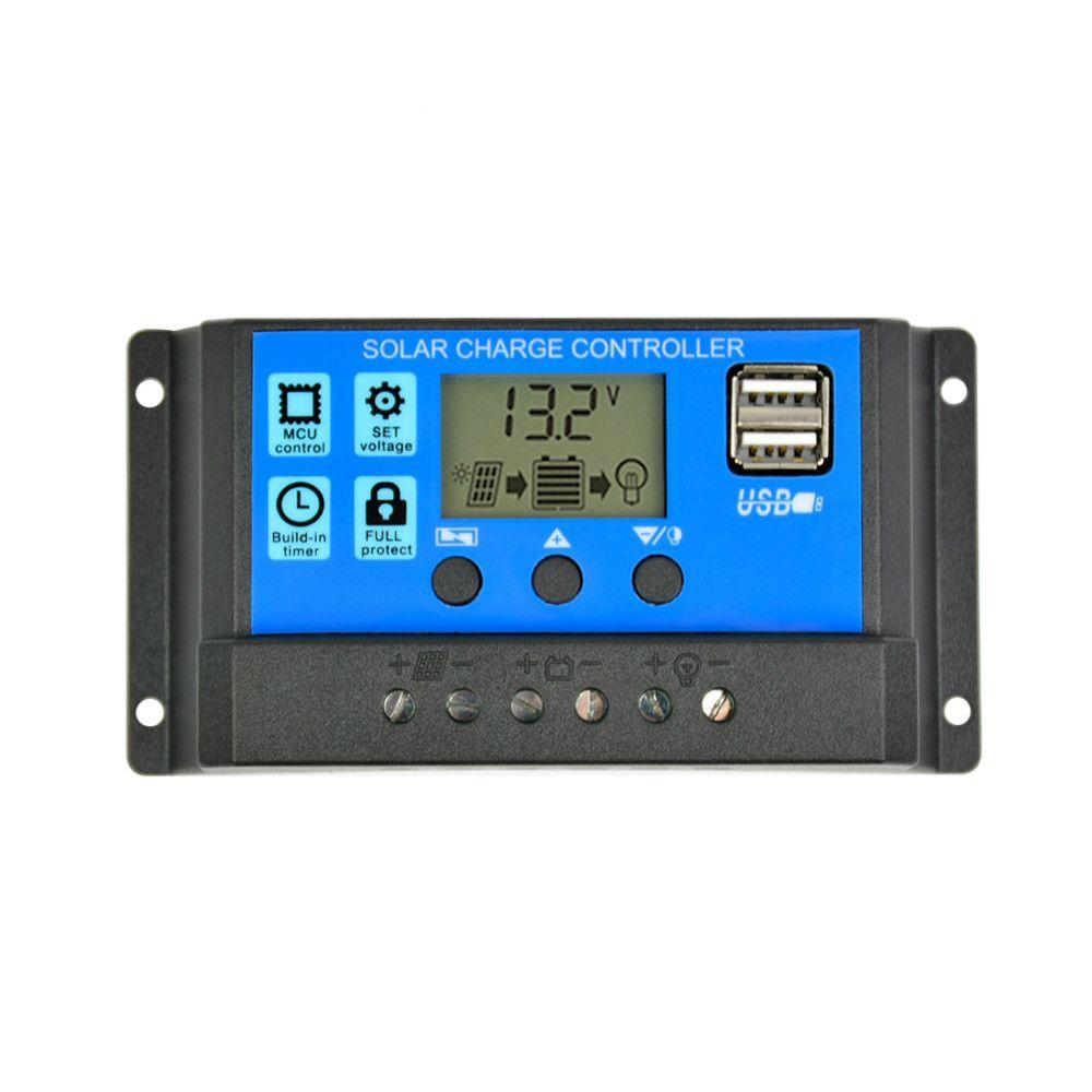 Ucuz Hücreler SUNYIM Solar Şarj Regülatörü 12 24V 50 40A 30A 20A Otomatik Güneş Paneli Kontrol Evrensel USB 5V Şarj LCD Ekran