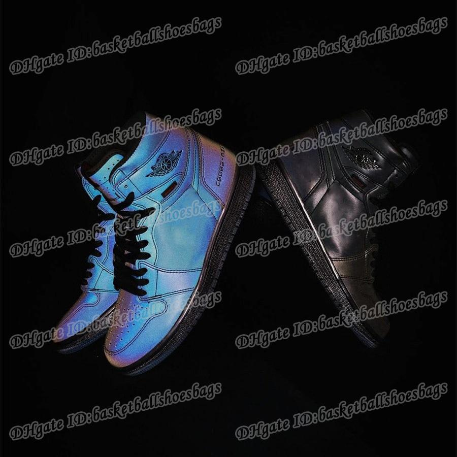 Destemidos 1 Obsidian 9 Shoes High Low Mens tênis de basquete Zoom Destemido Basquetebol 1 sapatilhas do desenhista Chameleon 3m reflexiva homens do esporte