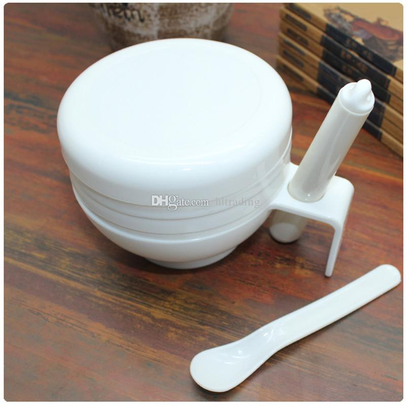 Baby Feeding Bowl Food Fruit Mills Dishes Grinding Tools Infant Newborn Handmade Food grinder Bowls set C6910