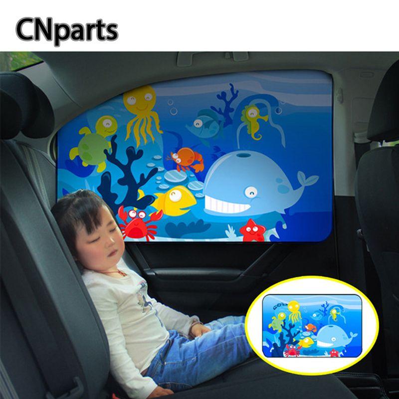 CNparts coche universal magnético ventana de bebé de la sombrilla de la cortina para Megane Mitsubishi Lancer ASX enfoque 2 3 Accesorios