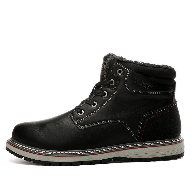 Di vendita calda Stivali Cotone Classic Designer Shoes caviglia Sneakers marrone scuro Blu botties della piattaforma pattini neri Martin Warm pelle impermeabile
