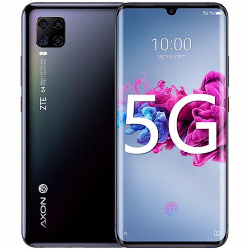 "Original ZTE Axon 11 5G Mobile Phone 8 GB de RAM 256GB ROM Snapdragon 765G Octa Núcleo Android 6,47"" Phone 64.0MP Fingerprint ID celular de tela cheia"
