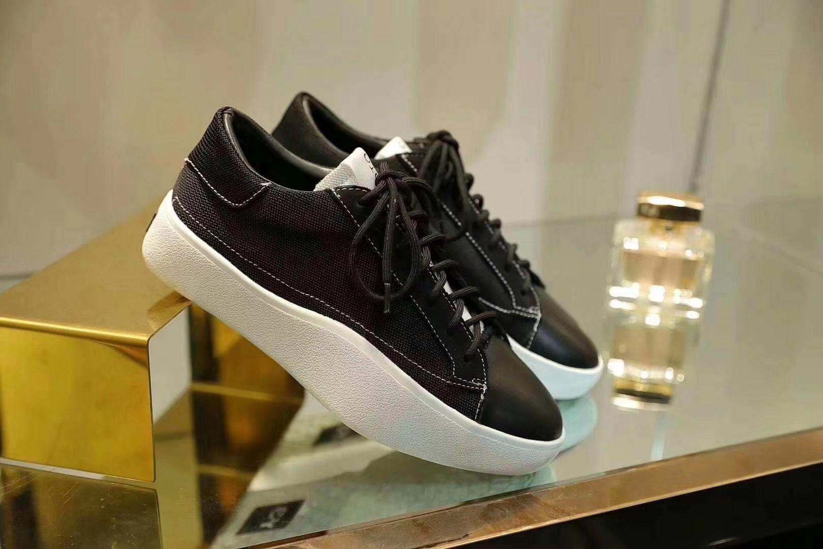 2020 Newest Y3 Signature new matte leather comfortable shell shoes wild shallow mouth flat bottom shoes Casual shoes mnb04