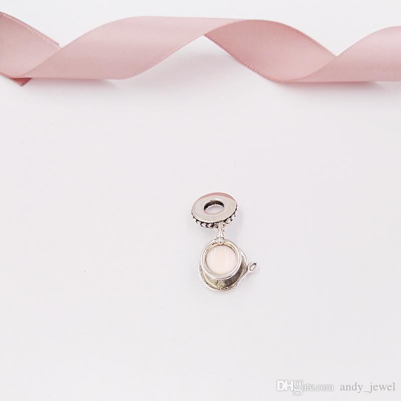 Authentique perles en argent sterling 925 enchante de thé enchanté Pendentif Charm Charms Convient à des Bracelets de bijoux de style Pandora européen 797064FR