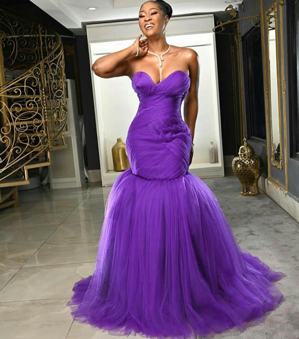 2020 Arabic Mermaid Prom Dresses Sexy Sweetheart Ruffles Tulle Evening Dress Backless Sweep Train Formal Party Gowns robes de soiree