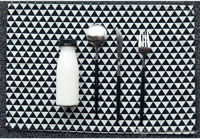 Algodón Lino Servilletas mantel de aislamiento térmico estera mesa de comedor estera cómoda Servilleta tela mesa manteles Fondo