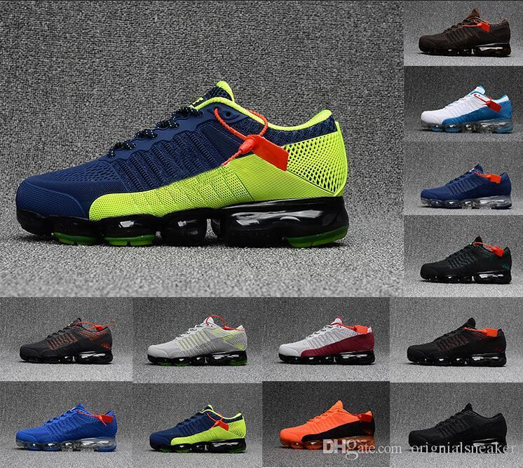 2019 Yüksek kalite spor ayakkabı Plyknit Koşu Ayakkabıları Erkekler Yeşil Eğitmenler Tenis 2019 Ayakkabı Adam Homme Kpu Otantik Sneakers Boyutu 36-47