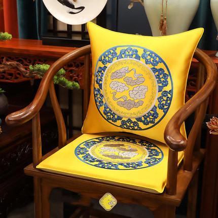 Bordado anti-derrapante chinês Almofada Pad Home Office decorativa Sofá Poltrona Almofada do assento de luxo de Natal cadeira de jantar Mat Assento