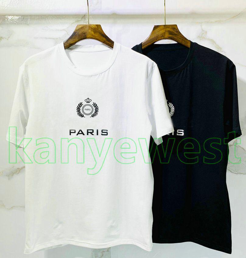 tee Tops 2020 novo paris desenhador de moda camisas Mens letra da cópia T imperiais da coroa de impressão camisa T Designer trigo camisetas Casual