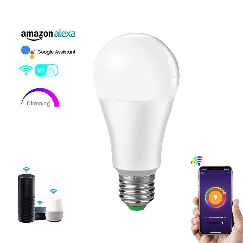 15W 무선 RGBW LED 앰플 INTELLIGENTE E27 B22 스마트 폰 APP IOS 알렉사 구글 지원 AC85-265V 1 개
