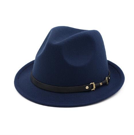 Autumn Winter Women Men Fedoras Hats Vintage Girls Felt Fedoras Flat Top Jazz Hat Church Hats
