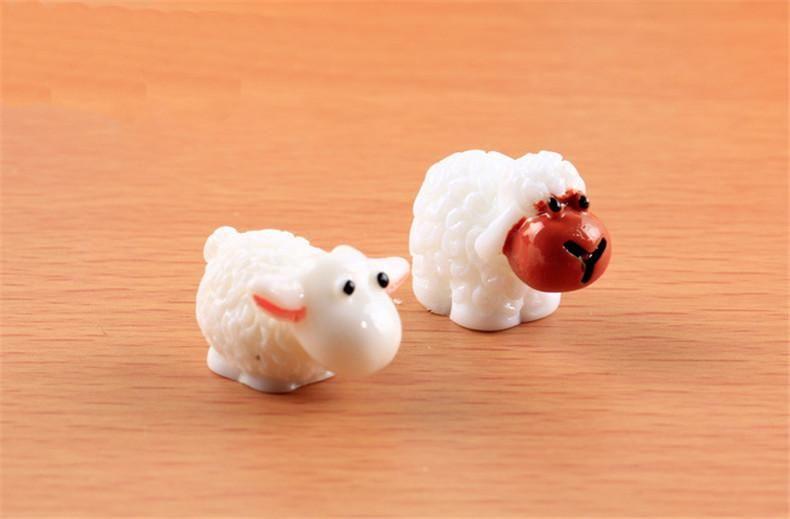 Paysage Mini Cute résine Artisanat Décorations chèvre mouton mouton blanc Simulation de moutons amateurs usine de vente directe