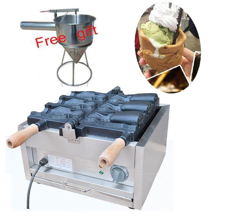 送料無料3個のアイスクリーム太陽のメーカー機械フィッシュコーンメーカー