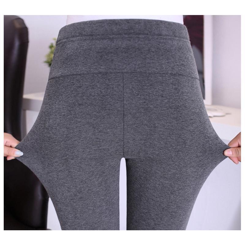 Calentar cintura alta Pantalones Suspender Embarazo invierno el terciopelo que espesa las polainas de maternidad Ropa para embarazadas Las mujeres al por menor
