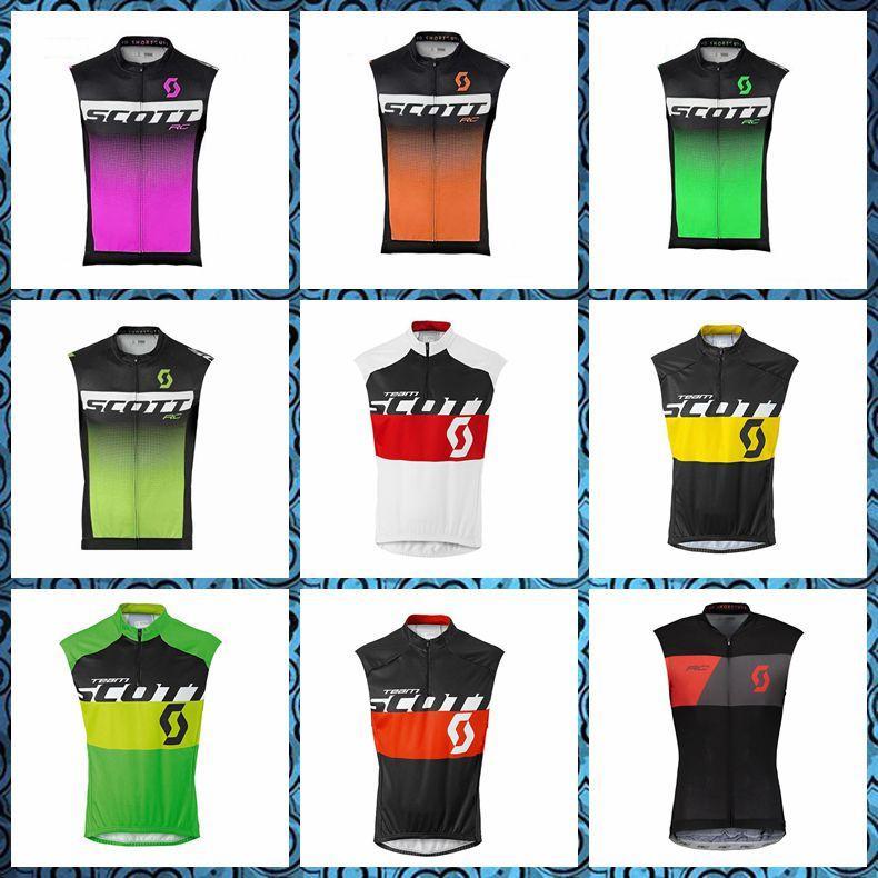 2019 Yeni SCOTT ekibi Bisiklet Kolsuz forması Yelek Yaz Bisiklet Giyim Yüksek Perfomance ücretsiz teslimat U51011 Tops