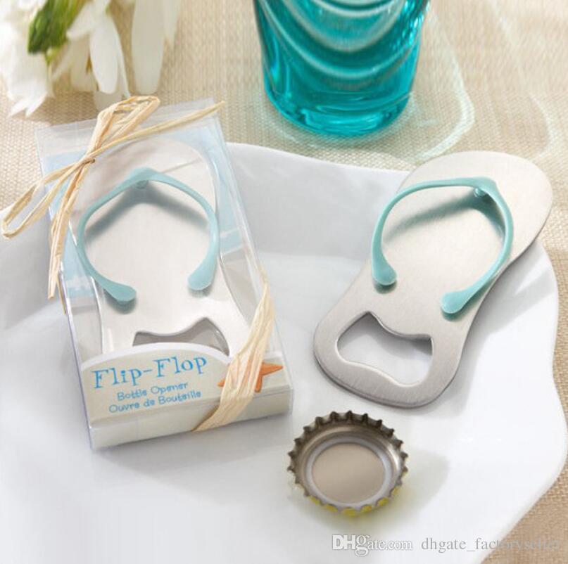 100pcs/lot Beach Wedding gifts Flip Flop bottle opener Wholesale wedding favors and gifts for guest Party favors LX6938