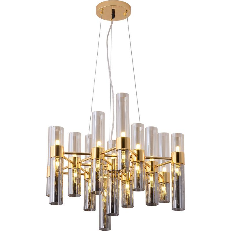 الشمال الإبداعية Bamboom G4 بقيادة الثريا لوحة رمادي زجاج عاكس الضوء قلادة الثريا Luminaria بريق الثريا الإضاءة