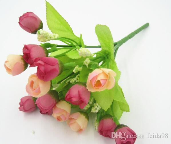 Simulato falso decorazione del fiore di seta del fiore Posizionamento Fiore Art Home dei singoli monili Rosebud sacco WL116 20pcs /