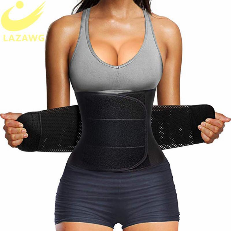 Le donne della vita Trainer cinghia di pancia di controllo di Cincher della vita Trimmer sauna sudore allenamento Cintola Slim Belly sport della fascia Cintola esercita adesivi