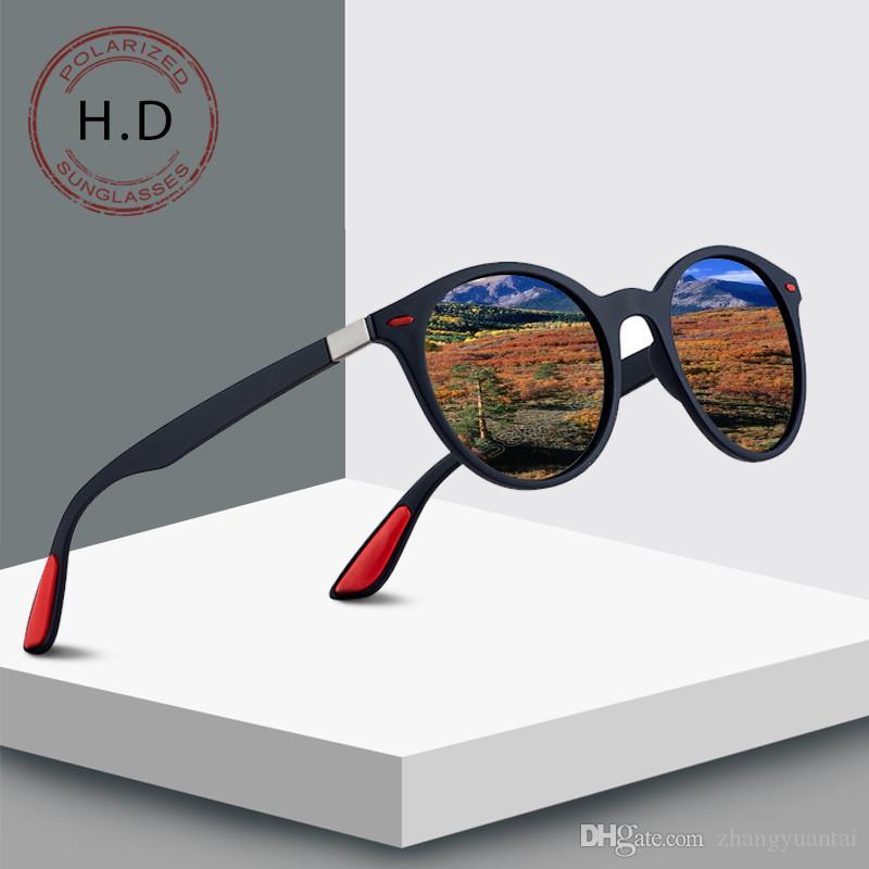 2019 nueva tendencia para hombres y mujeres gafas de sol polarizadas gafas de sol con montura redonda gafas de sol de conducción gafas clásicas de moda retro
