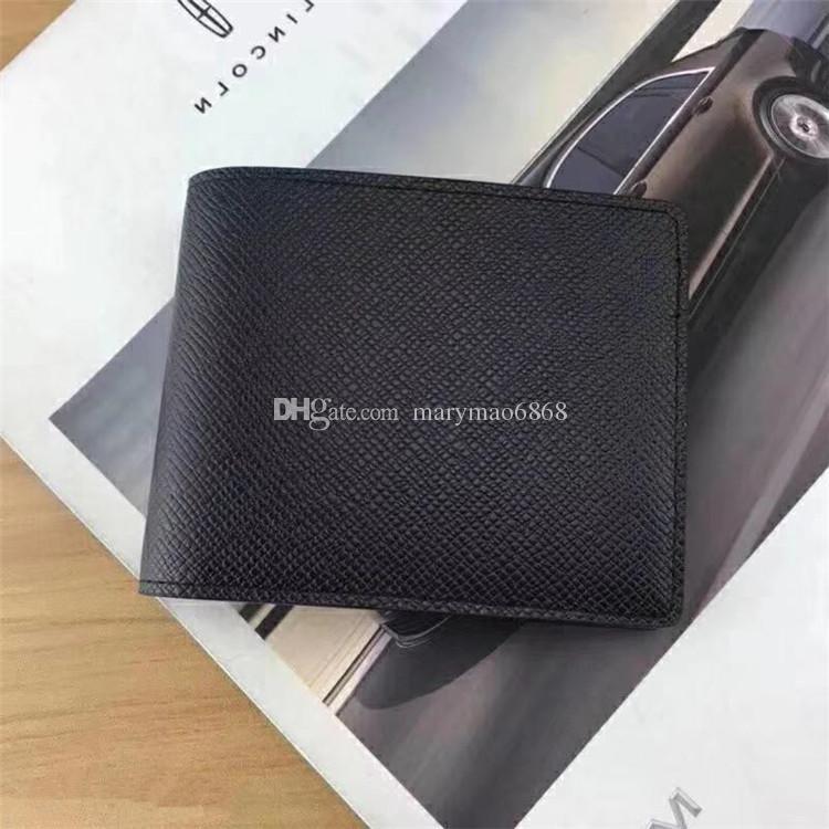 Luxury L Bag Paris plaid style Purse Fashion Designer Men Women Wallet High Quality Leather Men Short Wallets Card Holders with Box