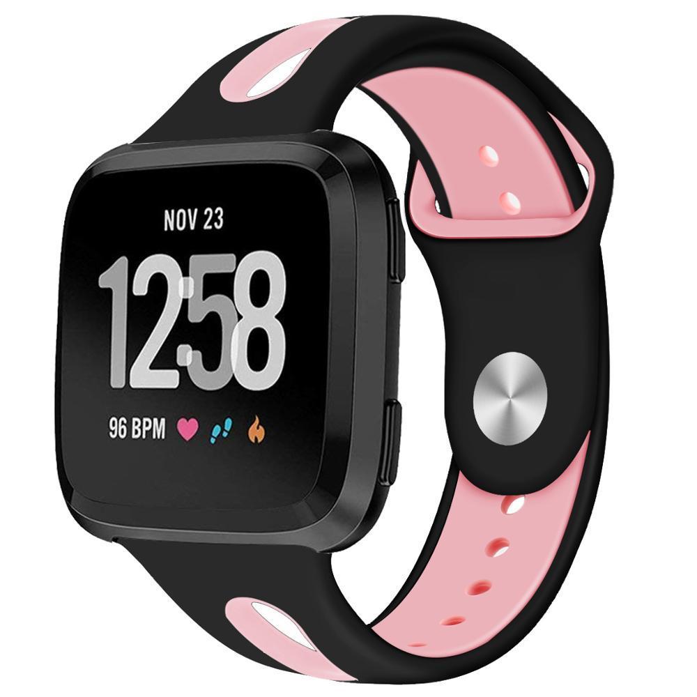 Fitbit Versa İzle 61013 İçin Fitbit Versa Bant Kayış Silikon Nefes Yedek Spor Kayış Gruplar Uyumlu