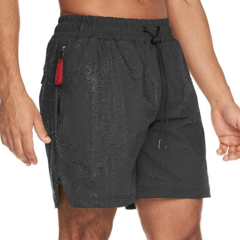 Preto Correr Desporto Shorts Homens Gym Fitness Bermuda Masculino Jogging Formação Crossfit secagem rápida calças curtas Verão solto Praia curtas