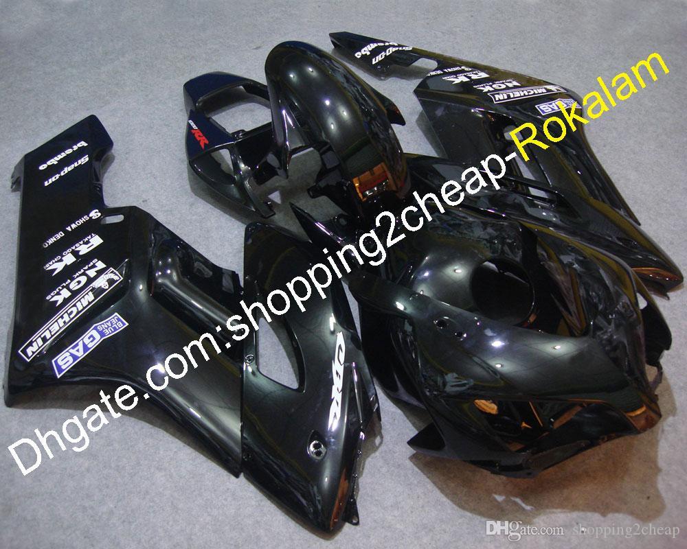 Motocicletas para Honda FireBlade CBR1000RR CBR1000 2004 2005 CBR 1000RR 04 05 CBR1000 Motorbike Kit de carenado negro (moldeo por inyección)