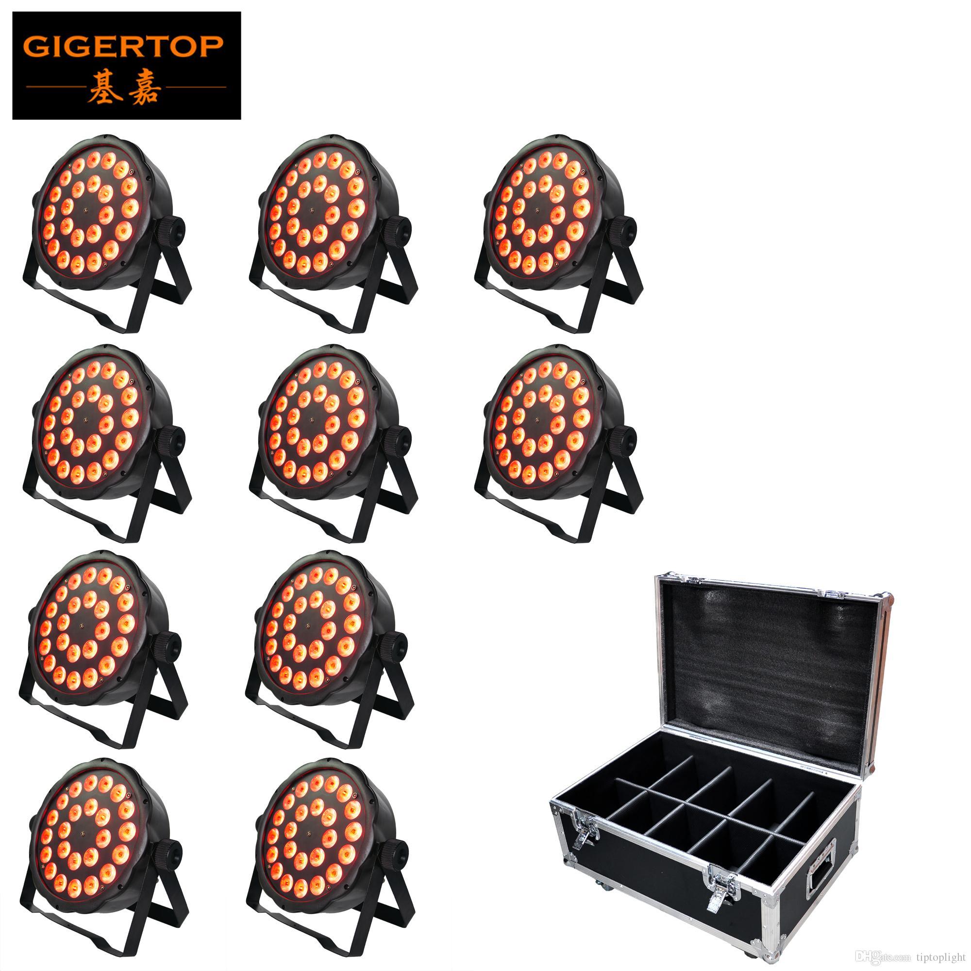 10in1 Flightcase Pack Led Par Can 24X3W RGBW Led Par Light DMX Controller Party Dj Disco Bar