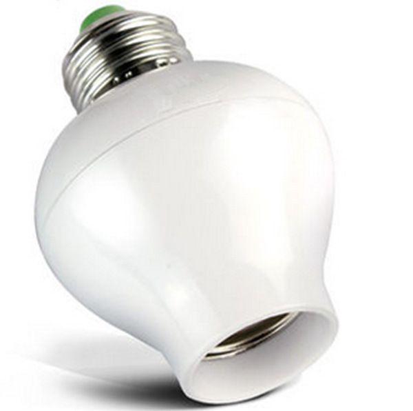 Smart Sensor LED E27 Socket son et lumière contrôle lampe 100-240V Bases Titulaire