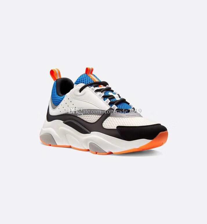 B22 Sneaker В Созополе Knit Женщины Мужчины Повседневная обувь телячья кожа Платформа B22 Sneaker Low Cut шнурках с коробкой