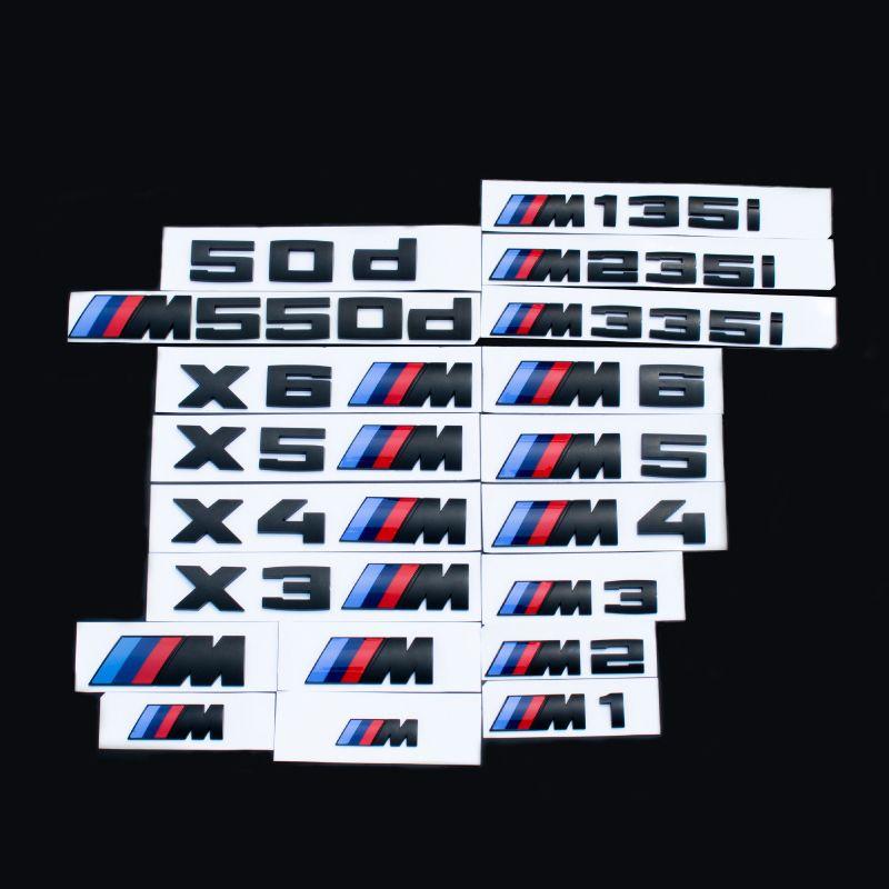 BMW M1 M2 M3 M4 M5 M6 X1 X3 X4 X5 X6 50d 135i 235i 335i 550d Bmw Carta número de placa de la cola del tronco del emblema de la etiqueta engomada