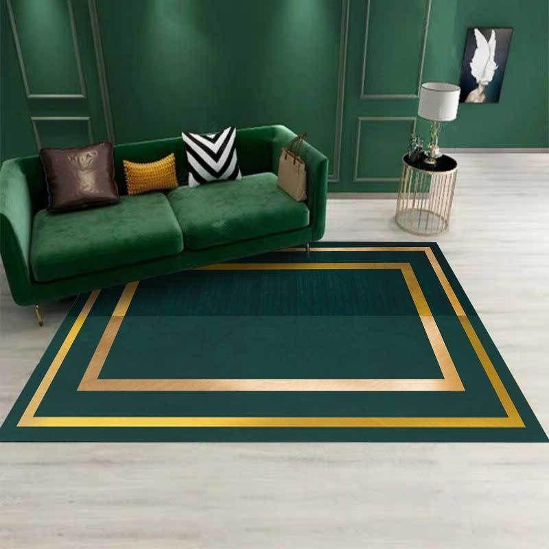 3d Geometric Phnom Penh Dark Green Carpet Gold Kitchen Living Room Bedroom Parlor Sofa Carpet Floor Mat Home Decorative Custom Commercial Carpet Installed Price Braided Rugs From Caley 18 35 Dhgate Com