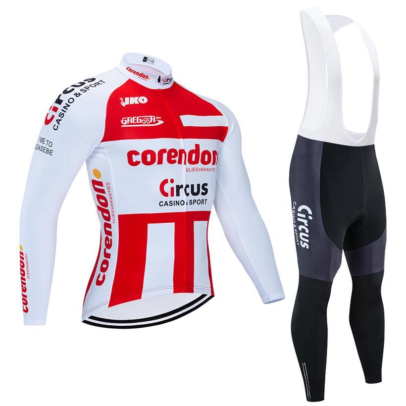 Hiver Cyclisme Jersey Set 2020 Team Pro Corendon vétement Cyclisme Toison Ropa Ciclismo Invierno VTT jersey vélo dossard kit pantalon