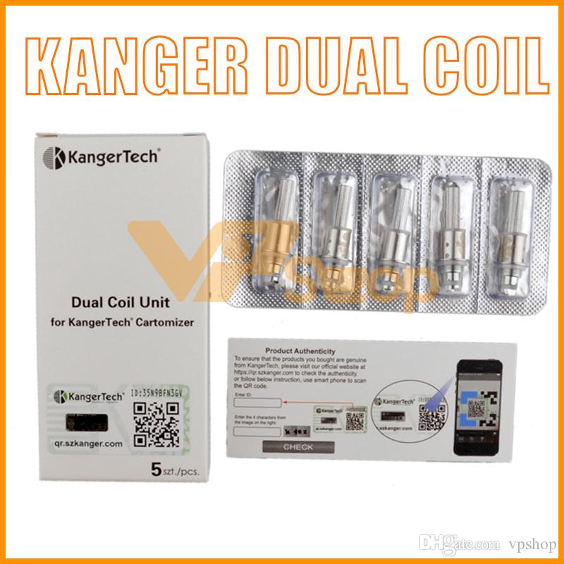 100% Original Kanger Upgraded Dual Coils for Kangertech Aerotank Mega Mini Protank 3 evod glass 2 T3D Atomizer