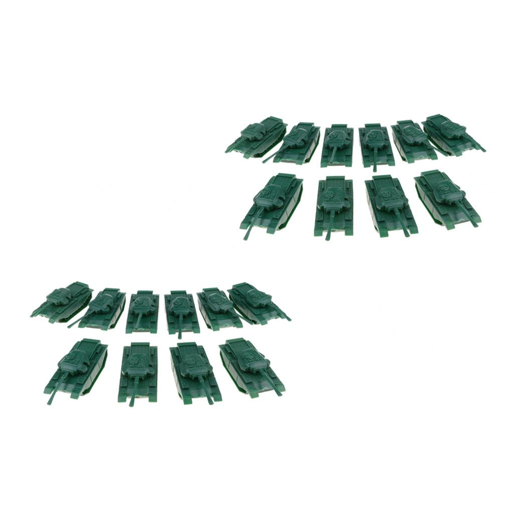 20pcs Military Model Toy Soldier Men Accessories- Tank Cars