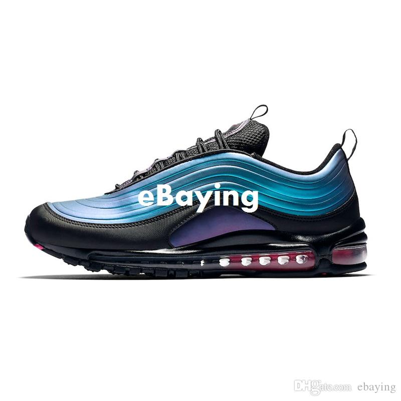 2019 Laser Fuchsia Silver Iridescent 1997 Have A Nice Day Mens Running Shoes 97s LX Future South Beach Essential Men Women Sports Sneakers Mens