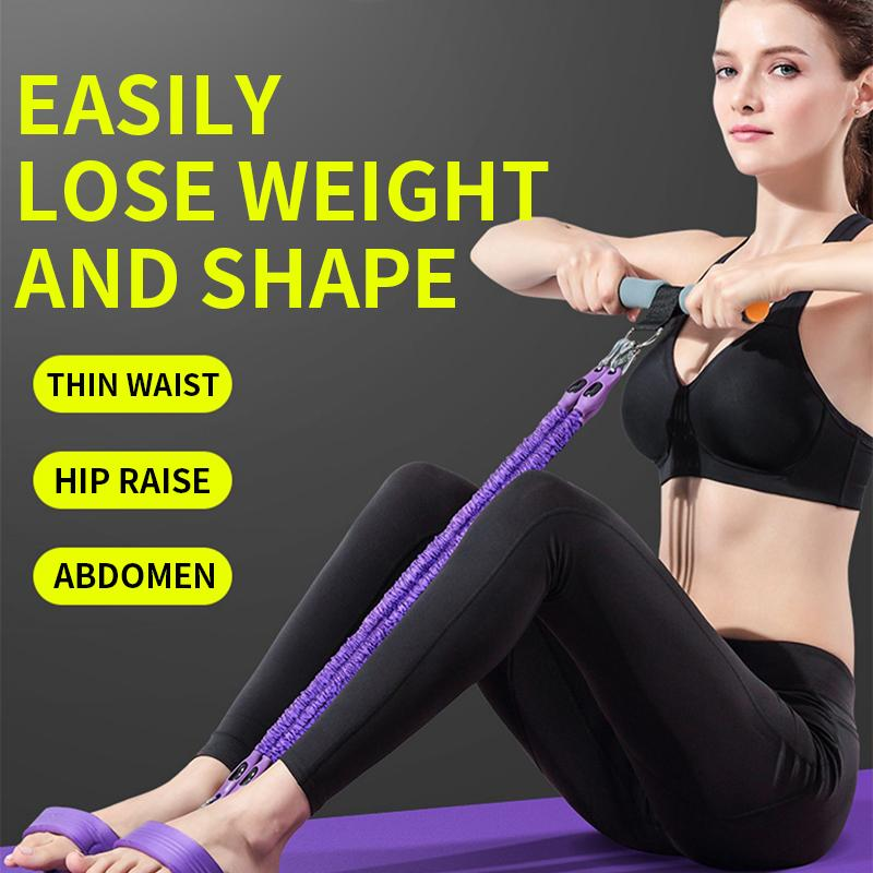 Sit-ups elastic rope household multifunctional fitness equipment thin stomach exercise auxiliary with female pedal pull