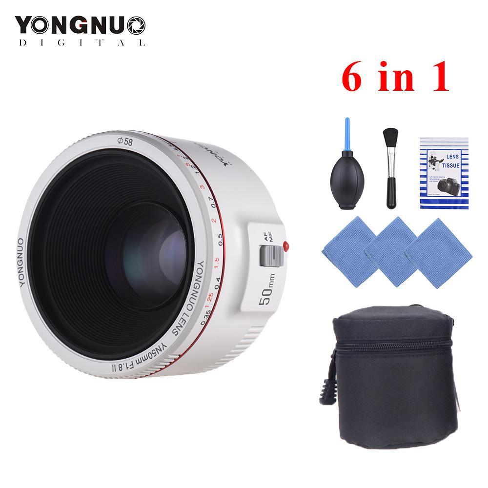 YONGNUO YN50mm Lens F1.8 II Standard Prime Lens Large Aperture Auto Focus 0.35 Closest Focal Length Lens for Canon EOS 70D 5D2