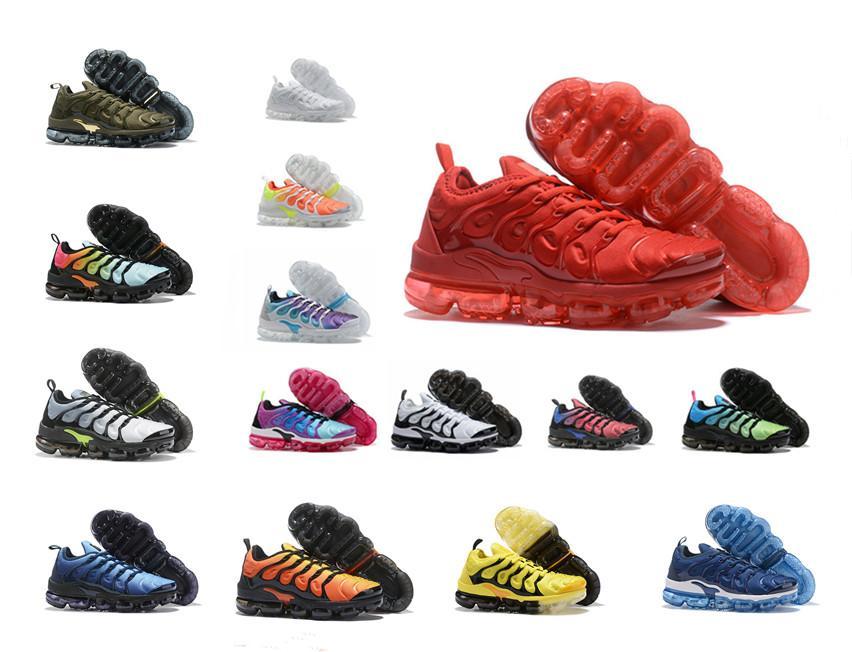las mujeres para hombre Negro TN Plus geométrica activa fucsia de los zapatos corrientes de cuadrícula Imprimir la cal del limón abejorro juego real entrenadores deportivos zapatillas de deporte 36-46