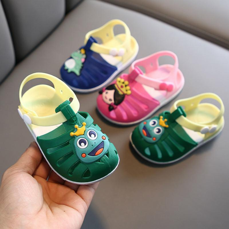 2020 New Summer Children Sandals For Boys Beach Shoes Kids Sports Soft Pvc Anti-slip Casual Toddler Baby Princess Girls Sandals