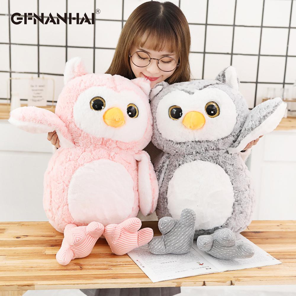 1pc 37-69cm Cute Owl Plush Toys Lovely Baby Kids Appease Animal Owl Pillow Dolls Stuffed Birthday Christmas Presents SH190913