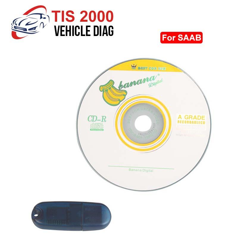 TIS2000 CD And USB K-ey For GM TECH2 SAAB Car Model from factory directly