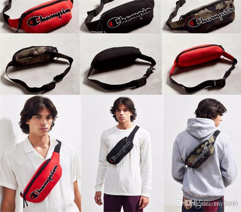 Чемпионы бренд fanny Pack вышивка письмо холст пояс талии сумка унисекс крест тела груди сумка путешествия сумка для покупок кошелек рюкзак