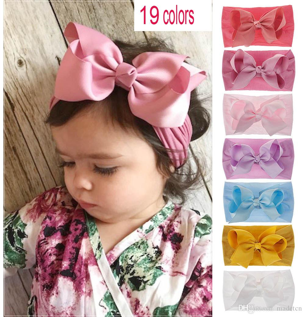 64 Wholesale Mix lots Baby Toddler Girls elastic headband headwear Hair Bows~