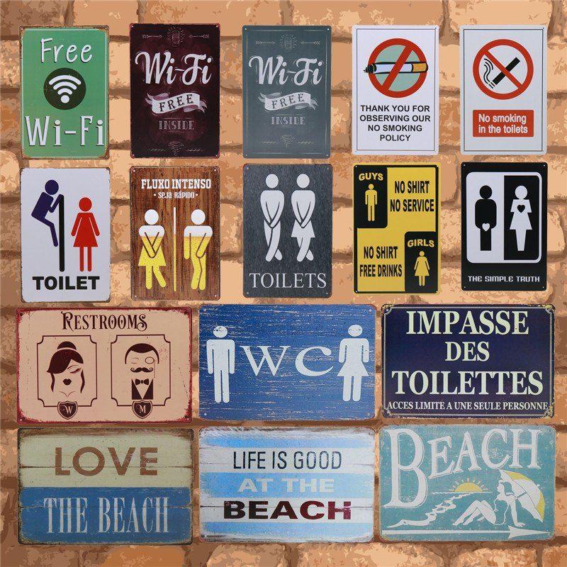 the Beatles metal tin sign bathroom wall decoration