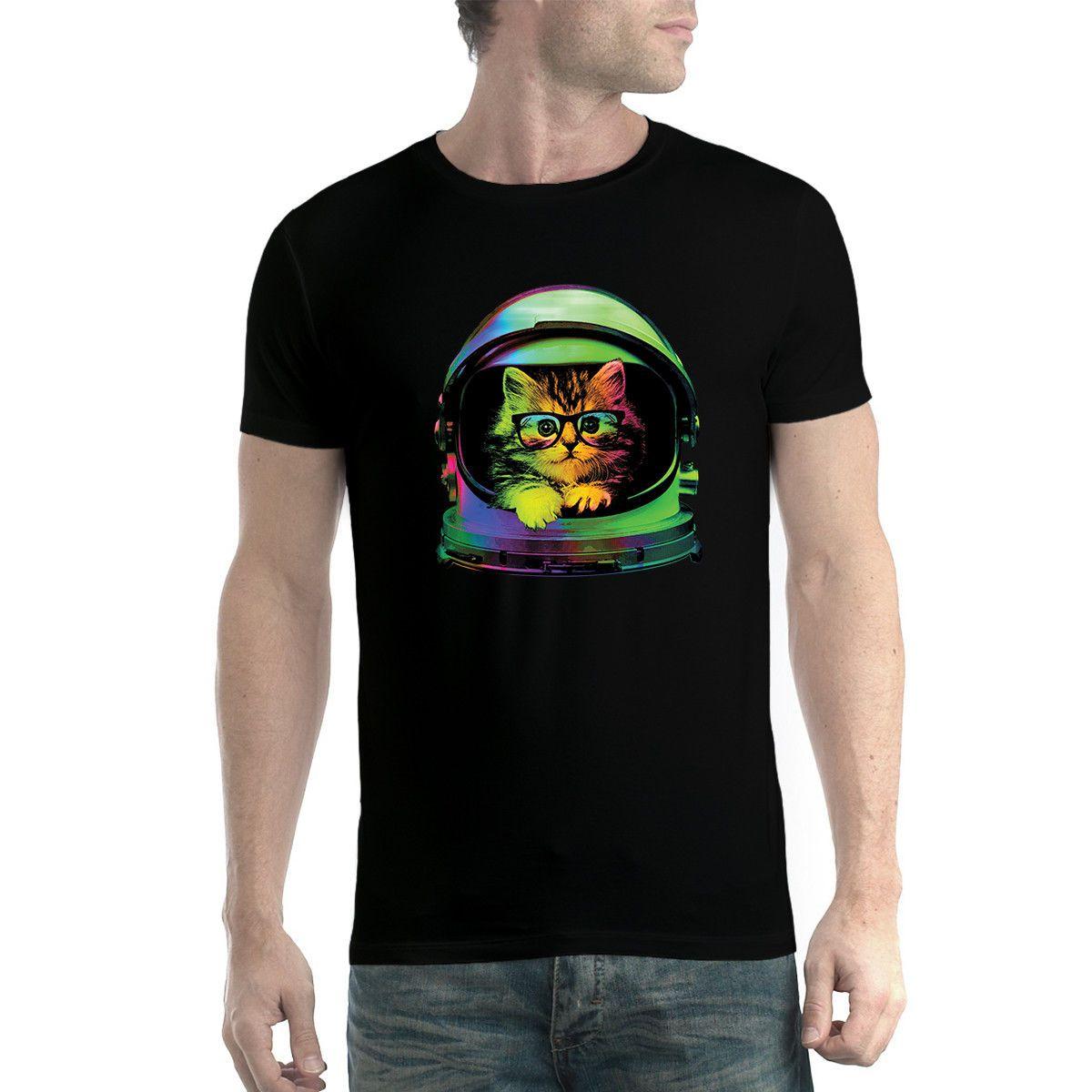 Space Cat Funny Men T-shirt XS-5XL